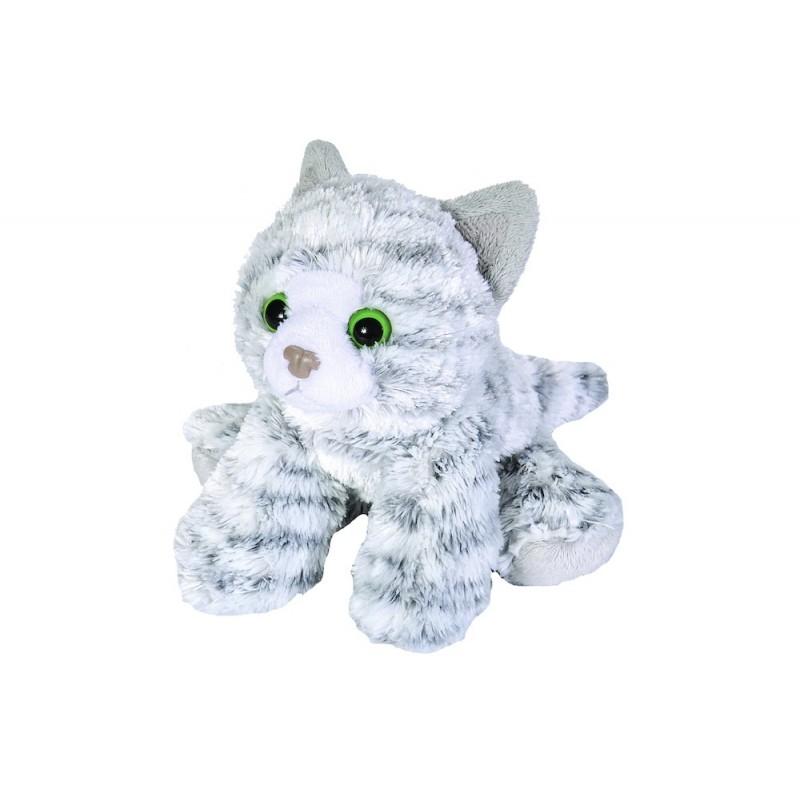 Grey Tabby Cat plush stuffed toy by Wild Republic