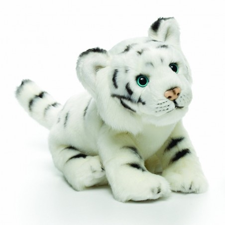 White Tiger Standing  Plush Toy by Nat & Jules