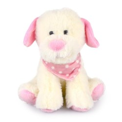 Pastel Puppy Pink Baby Safe Plush Toy