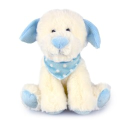 Pastel Puppy Blue Baby Safe Plush Toy
