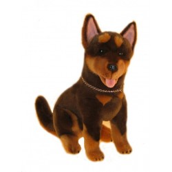 Australian Kelpie dog Quinn plush toy by Bocchetta Plush Toys