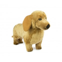 Dachshund Sausage Dog Benson  Plush stuffed toy by Bocchetta Plush Toys