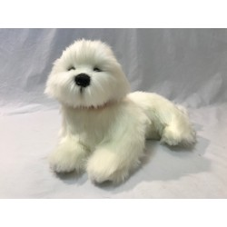 Bichon Frise Anabelle  plush toy by Bocchetta Plush Toys