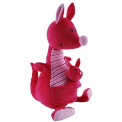 Kangaroo  with Baby Pink Nursery Plush Toy by Elka