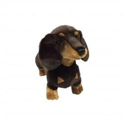 Dachshund Sausage Dog Stretch plush stuffed toy by Bocchetta
