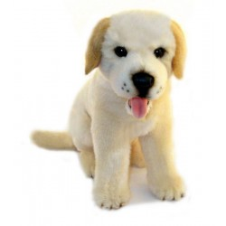 Yellow Labrador Cher plush toy by Bocchetta