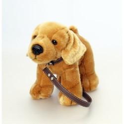 Labrador 30cm plush toy on lead by Keel Toys