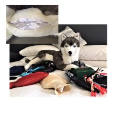 Siberian Husky Rocco stuffed plush toy by Bocchetta $7.95 Postage