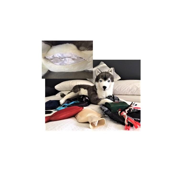 Siberian Husky Rocco stuffed plush toy by Bocchetta $7.95 Postage