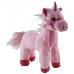Unicorn Pink Standing Plush Stuffed toy by Elka