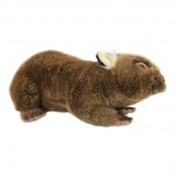 Wombat Olga plush toy with pocket by Bocchetta Plush Toys