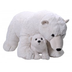 Polar Bear Mum and Baby Jumbo Cuddlekins Extra Large Plush Toy by Wild Republic $7.95 Postage