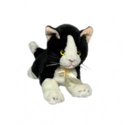 Black & White Cat Mango plush toy by Bocchetta Plush Toys