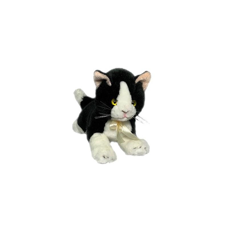 Black & White Cat Mango plush toy by Bocchetta Plush Toys