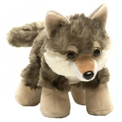 Wolf Plush Stuffed Toy 17cm...