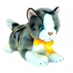 Grey & White Cat Leila Plush Toy by Bocchetta Plush Toys