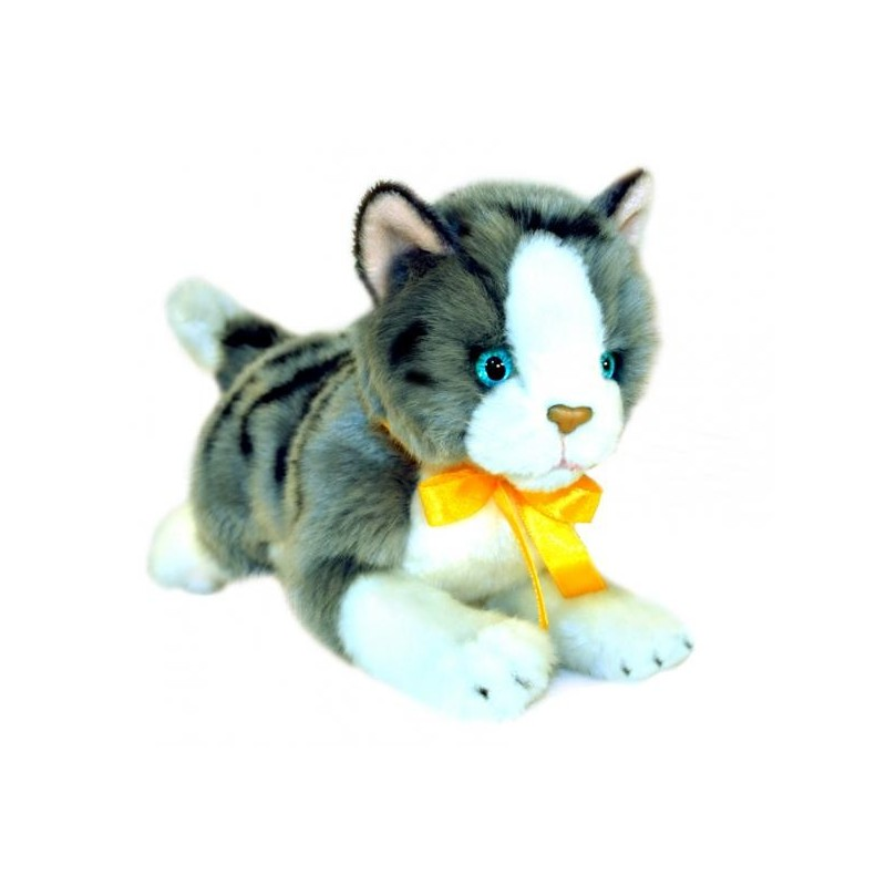 Grey & White Cat Leila Plush Toy by Bocchetta Plush Toys
