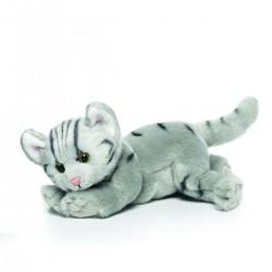 Grey Tabby Cat Large Plush...