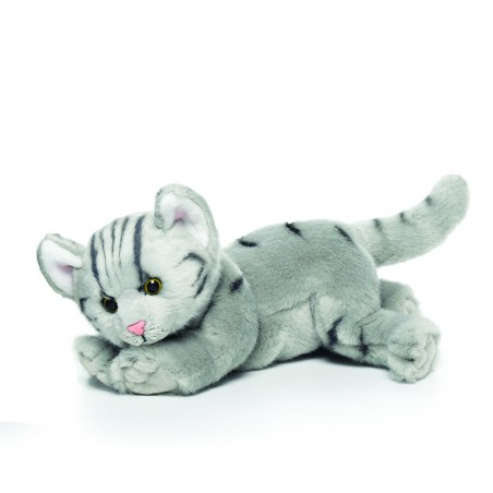 Grey Tabby Cat Large Plush Toy by Nat & Jules