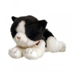 Cat Kitten Black and White Plush Toy Smudge by Keel Toys
