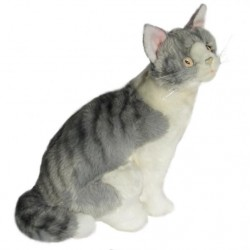 Norwegian Grey Cat Oslo soft toy by Bocchetta Plush Toys