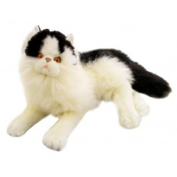 Black & White Cat Woodrow Plush Toy Cat by Bocchetta