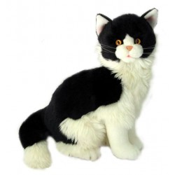 Black & White Cat Angus by Bocchetta Plush Toys