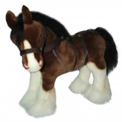 Clydesdale Horse Rimsky plush toy by Bocchetta Plush Toys