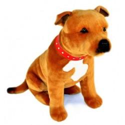 Staffordshire Bull Terrier Lester by Bocchetta Plush Toys