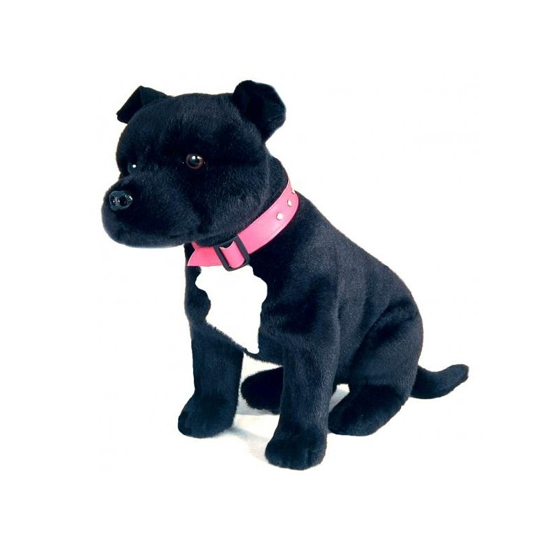 Staffordshire Bull Terrier DJ plush toy by Bocchetta Plush Toys