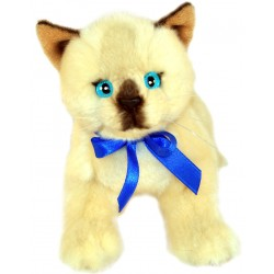 Siamese Cat Bamboo plush toy by Bocchetta