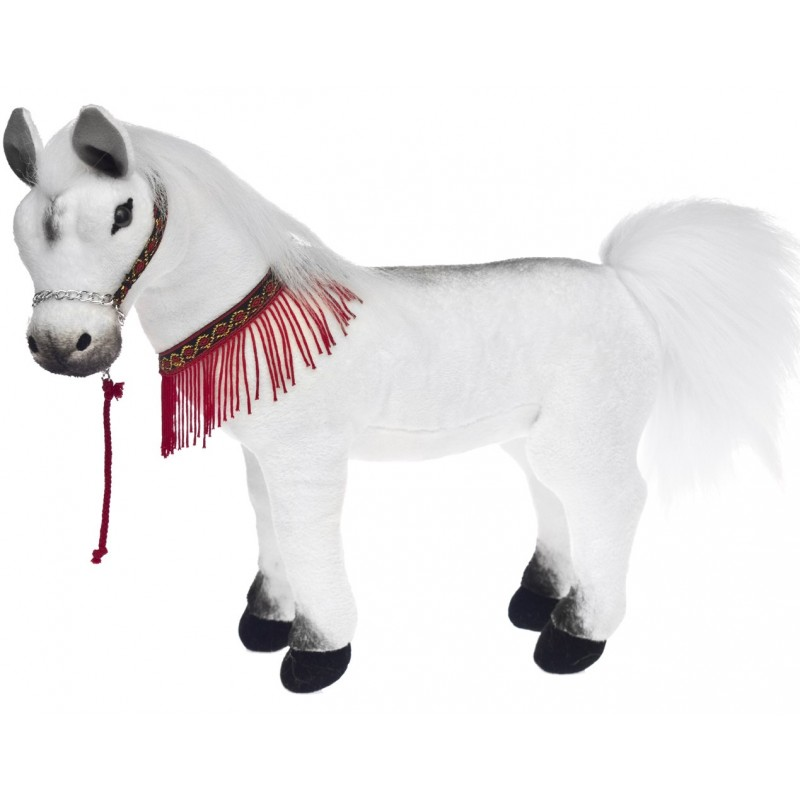 White Arabian Horse Harlem plush stuffed toy by Bocchetta Plush Toys