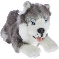 Husky Marbles Siberian Husky Dog Marbles plush stuffed toy by Bocchetta Plush Toys