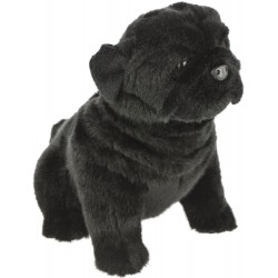 Black Pug Dog Oreo plush stuffed toy by Bocchetta Plush Toys