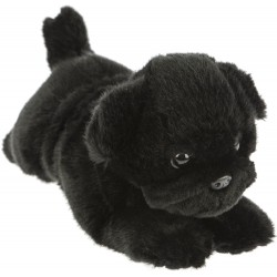 Black Pug Dog Puddles plush stuffed toy by Bocchetta Plush Toys