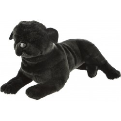 Black Pug Dog Bandit plush stuffed toy by Bocchetta Plush Toys