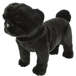 Black Pug Dog Midnight plush stuffed toy by Bocchetta Plush Toys