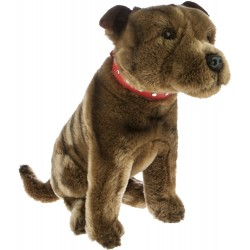 Staffy Scooter Staffordshire Bull Terrier plush stuffed toy by Bocchetta Plush Toys