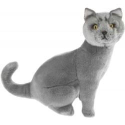 Cat Russian Blue Greyson plush stuffed toy by Bocchetta Plush Toys