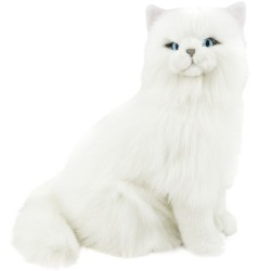 White Long Haired Cat Pearl by Bocchetta Plush Toys