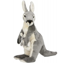 Kangaroo Grey with Joey Trudy by Bocchetta Plush Toys