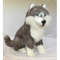 Siberian Husky Brock Plush Stuffed Toy Dog by Bocchetta Plush Toys