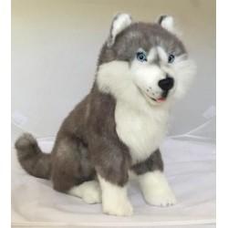 Siberian Husky Brock soft toy by Bocchetta Plush Toys