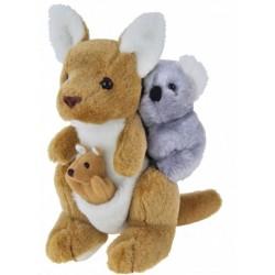 Kangaroo with Joey and Koala by Elka Toys