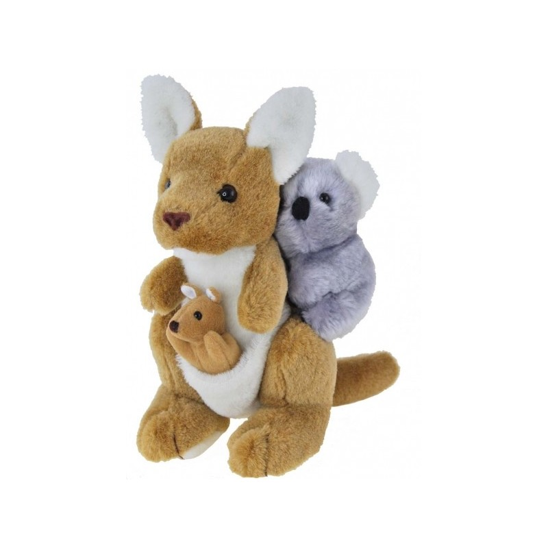 Kangaroo with Joey and Koala by Elka Toys