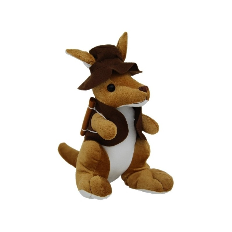 Kangaroo with Hat and Swag 34cm