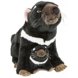 Tasmanian Devil Ebony & Zippy plush toy by Bocchetta Plush Toys