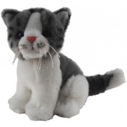 Cat Kitten Grey and White Chloe by Elka