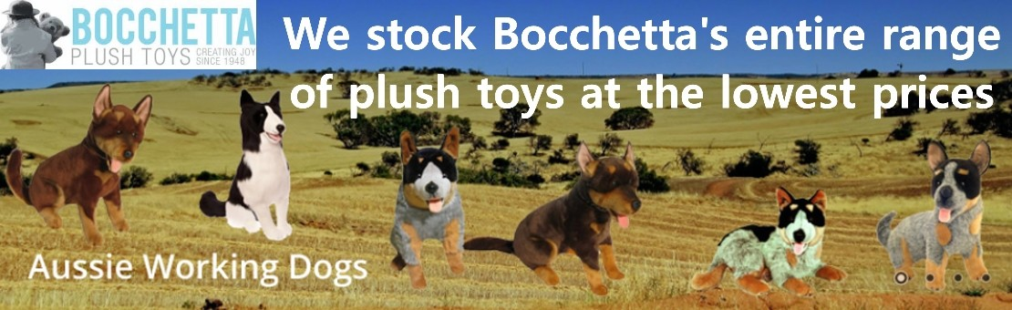 We stock and sell online the entire range of Bocchetta Plush Toys